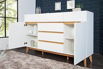 Design Sideboard CERVO 170 cm Original MCA matt weiss lackiert Eiche ...