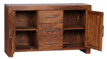 Finebuy Sideboard Massivholz Sheesham Kommode 118 Cm 3 Schubladen 2