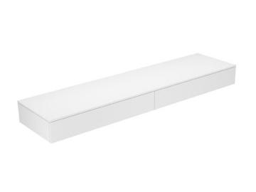 Keuco Sideboard 31770960000 Edition 400 weiß hochglanz/Glas titan klar 2 Auszüge Keuco -