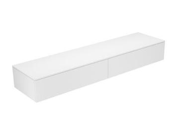 Keuco Sideboard 31771840000 Edition 400 weiß hochglanz/Glas cashmere klar 2 Auszüge Keuco -