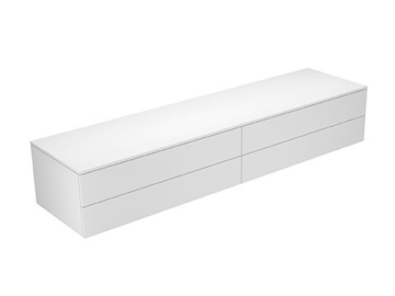 Keuco Sideboard 31772820000 Edition 400 weiß hochglanz/Glas trüffel klar 4 Auszüge Keuco -