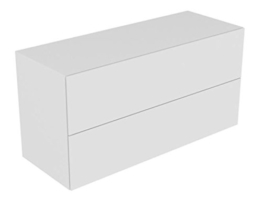 Keuco Sideboard Edition 11 31327, Bel., 2 Front -Auszüge, anthrazit/Glas anthrazit, 31327110100 -