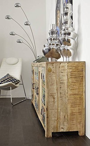 Massivholz Mango Mobel Holz Vintage Lackiert Sideboard Massivmobel