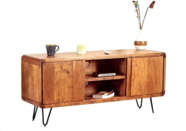 Retro Sideboard TV Board Authentic Easy Living Massivholz 140 Haarnadelfüße -