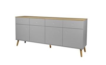 tenzo 1678 612 dot designer sideboard holz grau eiche. Black Bedroom Furniture Sets. Home Design Ideas