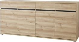 Germania 3479-228 Sideboard GW-Lissabon, 192 x 88 x 40 cm, edelbuche Nachbildung -