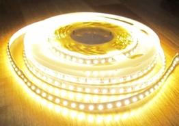 SET: HIGH POWER LED Streifen Stripe Strip 600LED 5m warmweiss weiß mit Netzteil 24V (Pro Serie) 60Watt TÜV geprüft -
