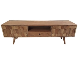 Freudenhaus Retro TV-Board Sideboard Honeycomb Akazie Massiv - 1
