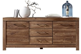 Stella Trading Gent Sideboard, Holz, Braun, (B/H/T) 200 x 85 x 45 cm - 1