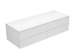 Keuco Sideboard 31766400000 Edition 400 weiß hochglanz/Glas weiß klar 4 Auszüge Keuco -