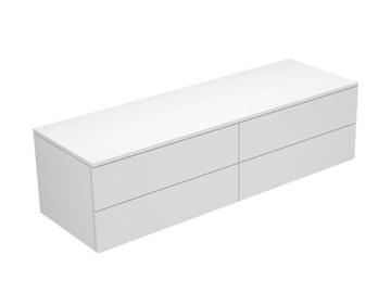 Keuco Sideboard 31766400001 Edition 400 weiß hochglanz/Glas weiß klar 4 Auszüge,450 Keuco -