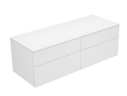 Keuco Sideboard 31767400000 Edition 400 weiß hochglanz/Glas weiß klar 4 Auszüge Keuco -