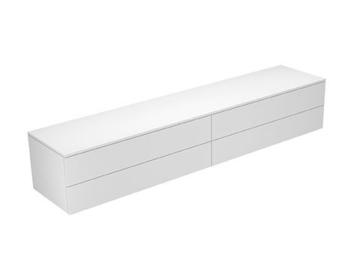 Keuco Sideboard 31772730001 Edition 400 weiß/Glas trüffel satiniert 4 Auszüge,450 Keuco -