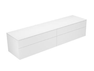 Keuco Sideboard 31773730000 Edition 400 weiß/Glas trüffel satiniert 4 Auszüge Keuco -