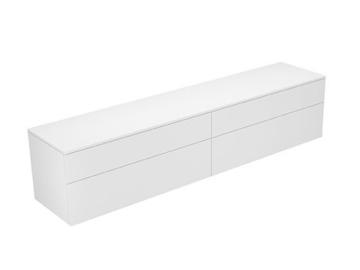 Keuco Sideboard 31773820001 Edition 400 weiß hochglanz/Glas trüffel klar 4 Auszüge,450 Keuco -