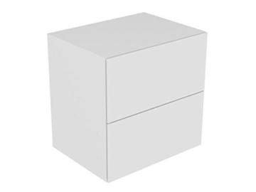 Keuco Sideboard Edition 11 31323, Bel., 2 Front -Auszüge, weiß Hochgl./weiß Hochgl., 31323210100 -