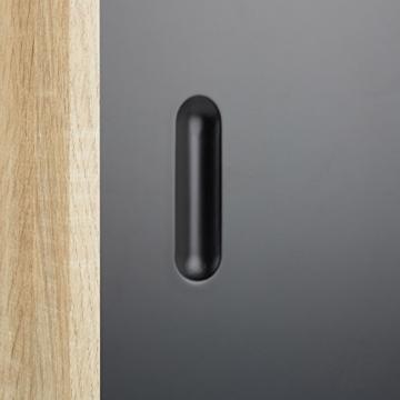 Relaxdays Sideboard Retro, 60er Jahre Design, Holz, Metall, Kommode, Skandinavisch, HxBxT: 70 x 80 x 40 cm, Schwarz Weiß -