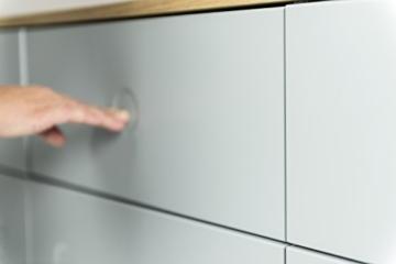 Tenzo 1678-612 Dot Designer Sideboard Holz, grau / eiche, 43 x 192 x 86 cm -
