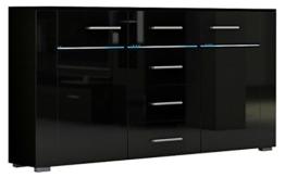 Kommode STUTGART Wohnzimmerschrank Sideboard mit LED RGB beleuchtung -