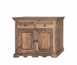 MASSIVMOEBEL24.DE Kolonialart Massivholz Möbel Palisander grau Sideboard Sheesham geölt massiv Möbel LEEDS #12 - 1